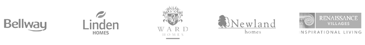 Bellway, Linden Homes, Ward Homes, Newland Homes, Renaissance Villages